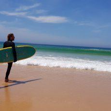 longboard surfing beach portugal surf ocean waves sea